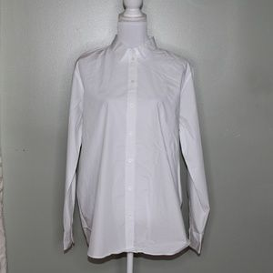 everlane women white cotton shirt SZ 12